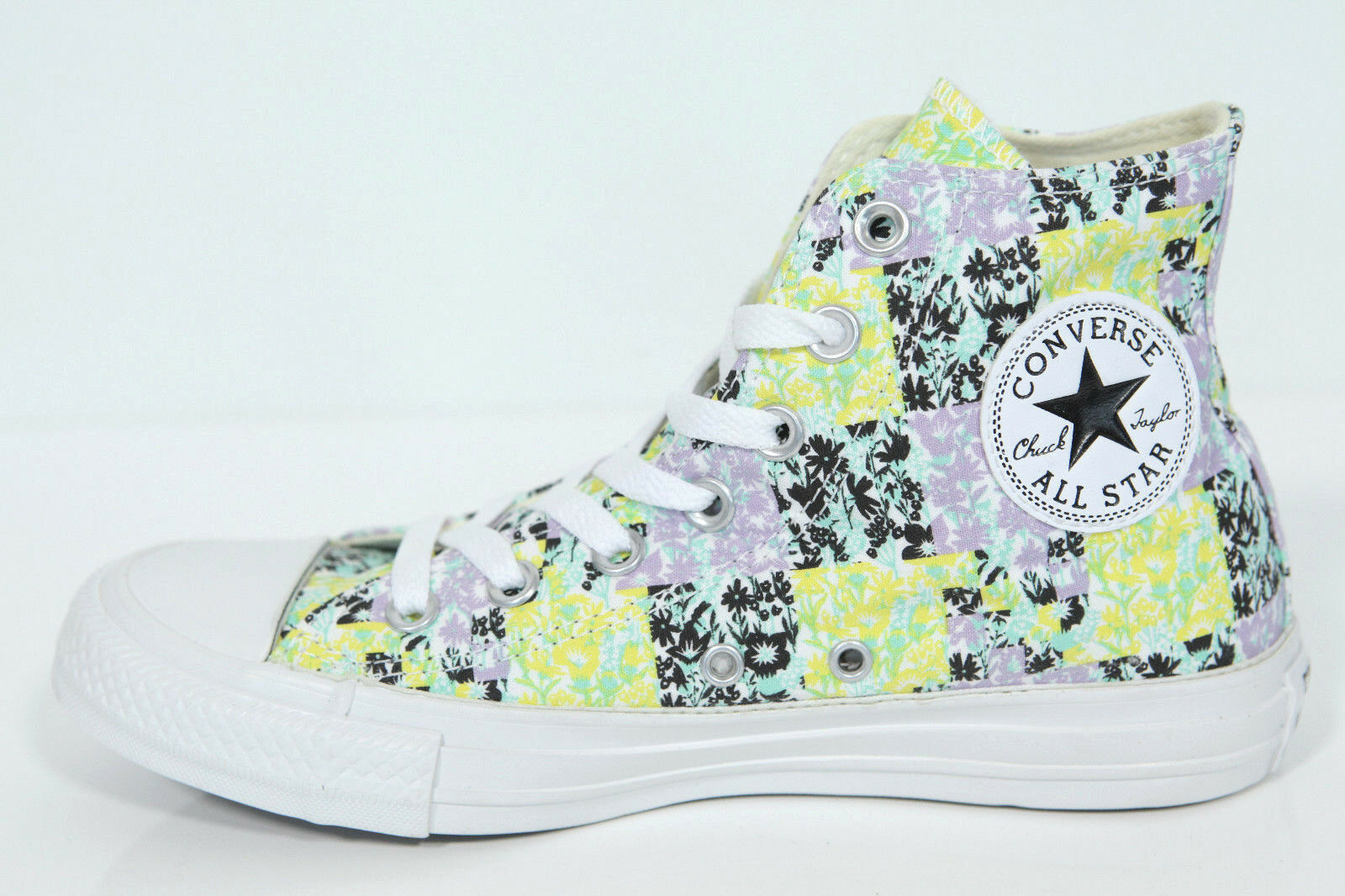 Neu Multi All Star Converse Chucks Hi Multi Neu Weiß cotton Sneaker 542558c Retro ffcc1f