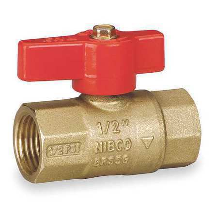 "NIBCO GB1A 1//2/"" FNPT Brass Gas Ball Valve Inline"