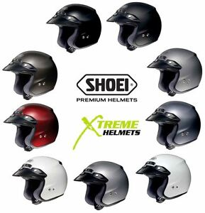 Shoei RJ Platinum-R Helmet Open Face Motorcycle DOT SNELL M2015