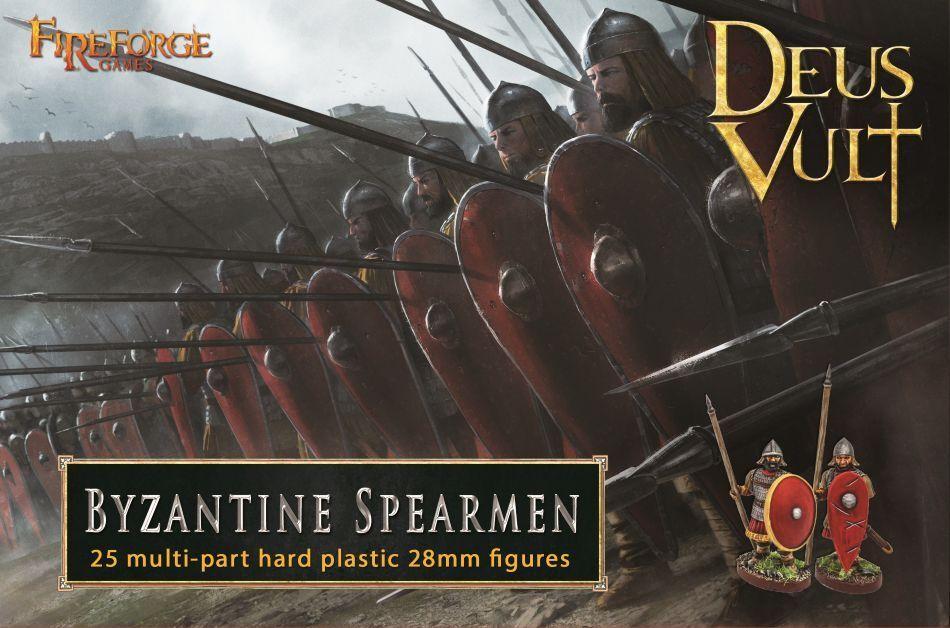 Byzantine Spearmen Fireforge Games Deus Vult Medieval Middle Ages speerträger