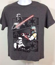 Lego Star Wars Charcoal Gray Short Sleeve Shirt Boys Size 18-20 NWT  #102