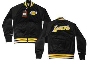 New Los Angeles Lakers Mens Sizes Mitchell & Ness Black Track Jacket