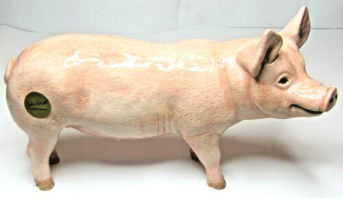 JOHN BESWICK Ceramic Animals July 2019 WHITE PIG Standing