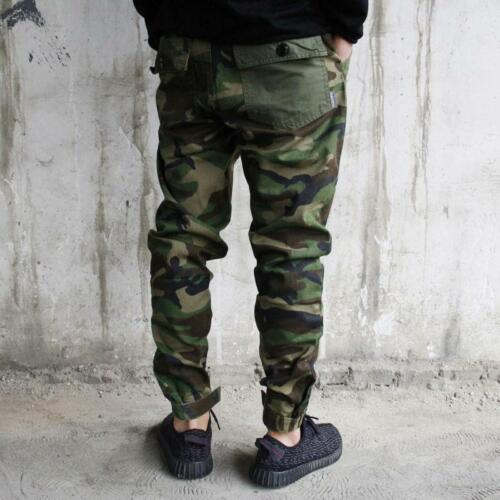 Bty15 Mens Camo Skinny Overall Cargo Slim Fit Camouflage Trouser Pocket Pants XX