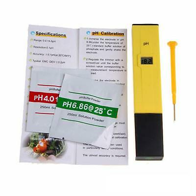 Digital PH Meter Water Tester Pocket Aquarium Pool Wine Urine LCD Pen Monitor
