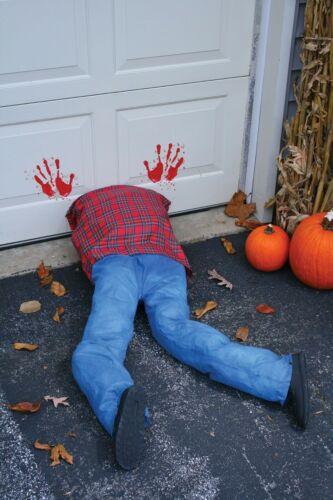 Halloween Garage Guillotine Porte Zombie jambes Horreur Prop Outdoor Garden House