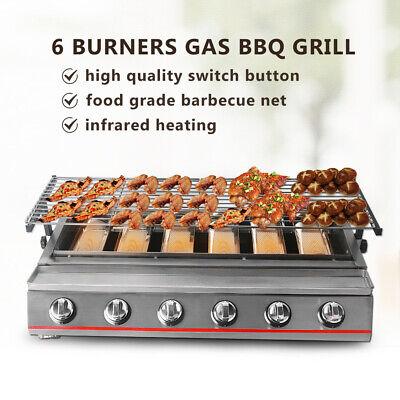 ITOP 6 brûleur LPG Barbecue Grill gaz Jardin Grill Acier