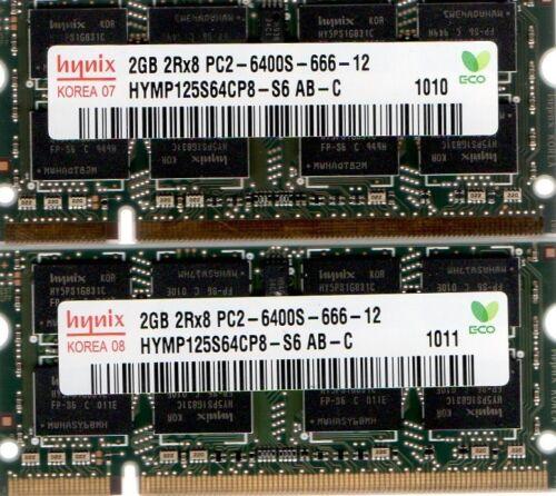 4GB 2x 2GB Kit PC2-6400 Laptop Memory HP Part# 573722-001 577971-001 580674-001