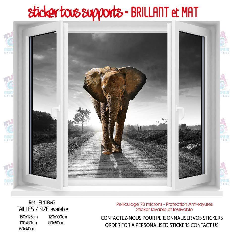 Aufkleber Schein AUGE Erotisch  Elefant Tiere Felin- 5 Größen - EL10BW2