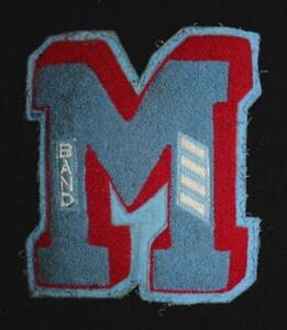 VINTAGE-1960-039-S-1970-039-S-SCHOOL-BAND-BLUE-AND-RED-PATCH-5-1-2-034-X-6-034