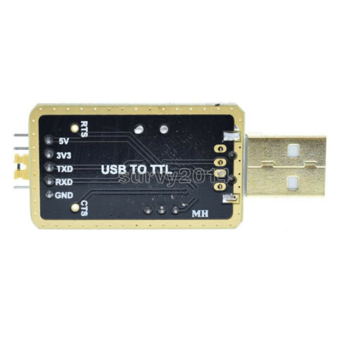 CH340G RS232 Upgrade to USB TTL Auto Converter Adapter STC Brush Module Golden