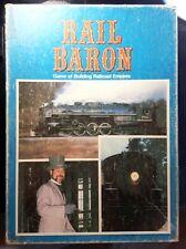 RAIL BARON BOARD GAME Avalon Hill Railroad Rare 1977 COMPLETE