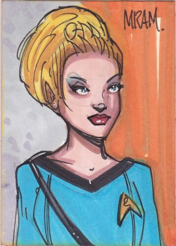 STAR TREK TOS ACEO SKETCH KAREN TRACY VIRGINIA ALDRIDGE ORIGINAL ART BY MRAM