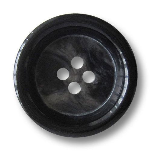 3 elegante muy grandes negro gris descubrí cuatro agujero abrigo botones 1455gs-34