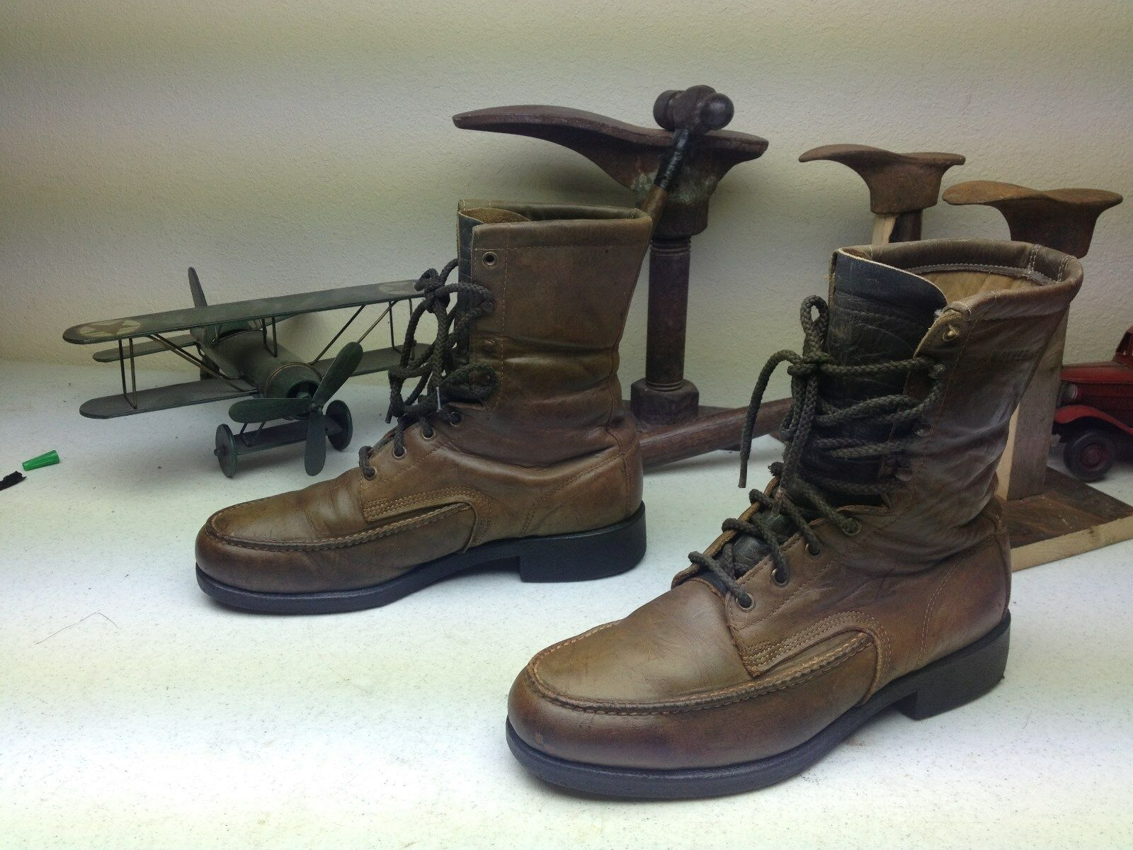 BROWN MADE IN USA WOLVERINE LACE UP PACKER Stiefel FARM WORK CHORE TRUCK Stiefel PACKER 10.5 D bacaf8