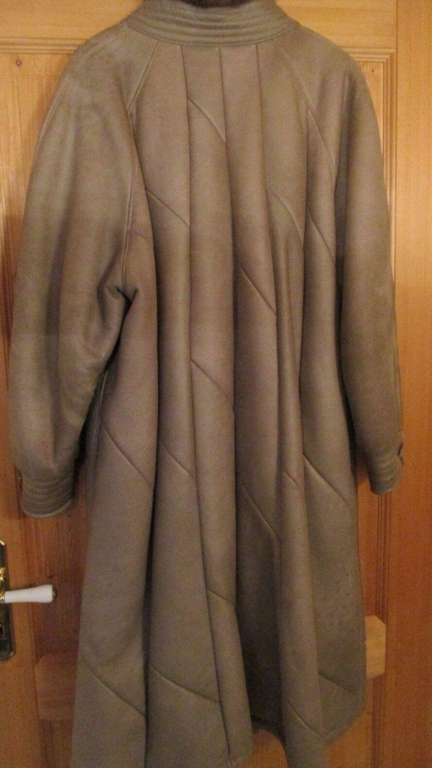 396f7e237b90dc Eleganter warmer Ledermantel mit Lammfell grau 44 gewachsenem 42  npyfhv2142-neue Kleidung