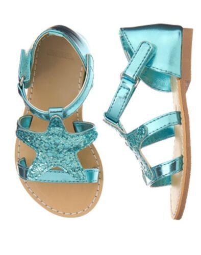 NWT Gymboree Mermaid cove Star Sandals shoes girls 5,6,9,10,13,1,2,3,4