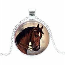 Daisy Fields art Tibet silver Glass dome Necklace chain Pendant Wholesale