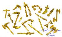 Lego Ninjago Ninja Minifig Gold Weapon Set W/golden Minifigure Dragon Sword