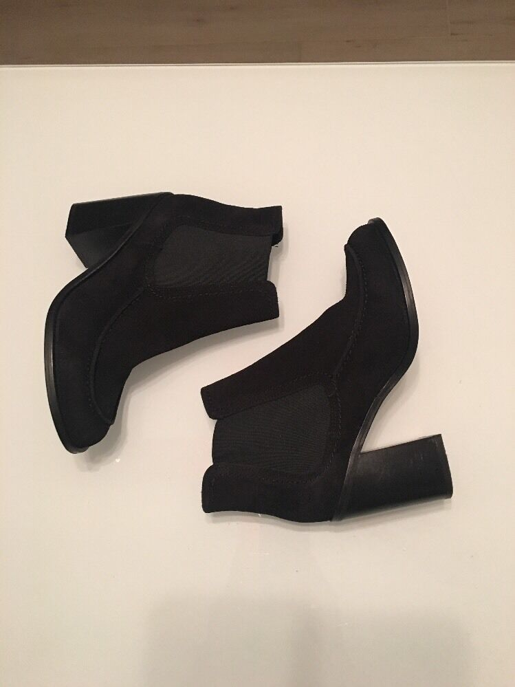 Brand New Shellys London Women's Ashley Black Suede Ankle Ankle Ankle Boot, Size 7 6eb284
