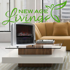 New Age Living Infrared Quartz Portable Electric Fireplace