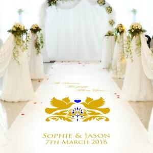 Church Wedding Carpet Decoration.15ft-30ft Personalised WEDDING AISLE RUNNER