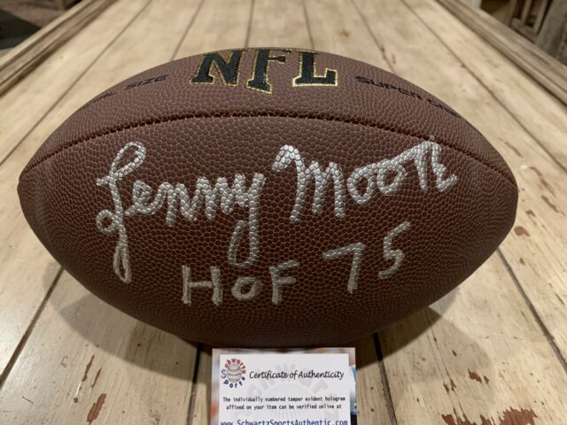 Lenny Moore Autographed/Signed Football Schwartz COA Baltimore Colts HOF