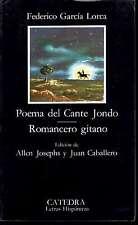 Lorca Poema del Cante Jondo y Romancero gitano 1996 Madrid Literary Crit Sp