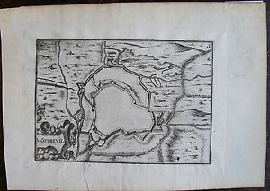 Carte De Mostrevil . Par Tassin. Carte Originale De 1633. Dimensions De La Feui