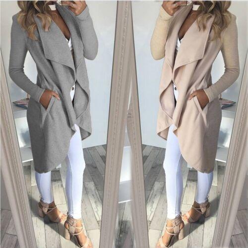 Fashion Women Winter Warm Collar Hooded Long Coat Jacket Trench Parka Outwear