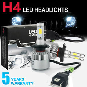 2 Bulbs H4 HB2 9003 LED Headlight Kit Combo 2600W 390000LM High...