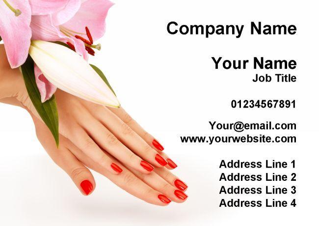 Nail Salon Manicure Pedicure Pretty Personalised Business Cards