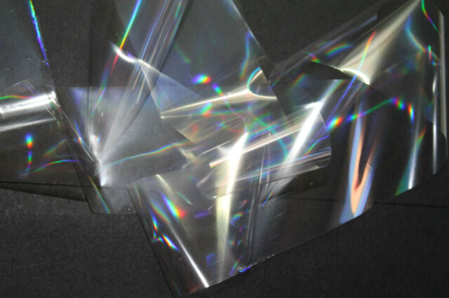 """""""Holographic clear"""" transfer nail foil - 1 meter"""