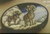 Ram Oval Box With Lid Ceramic Bisque Wildlife U-paint Animal