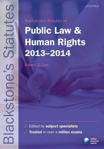 """""""AS NEW"""" , Blackstone's Statutes on Public Law and Human Rights 2013-2014 (Black"""