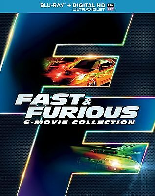 BLU-RAY THE FAST AND FURIOUS 1 2 3 4 5 6-MOVIE COLLECTION BOX SET