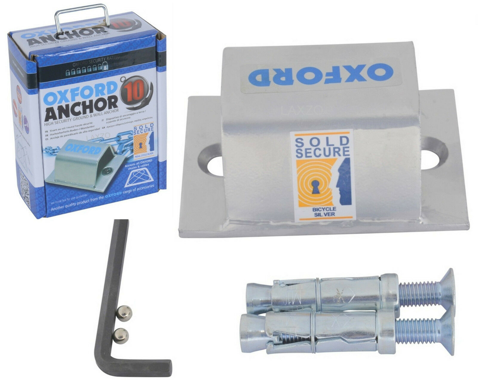 Oxford 10 High Anclaje  de Seguridad para Suelo o Pared Brute Force  very popular