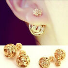 1 Pair New Fashion Women Lady Elegant Rhinestone Crystal Ear Stud Earrings