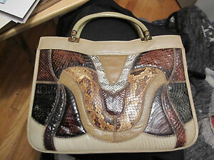 Image Is Loading Vintage Caprice Snakeskin Handbag Purse Beautiful Condition Original