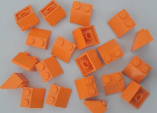 20 x LEGO® BASIC STEINE 2 x 2 SCHRÄG DACHZIEGEL DACHSTEIN 3039 NEU ORANGE