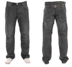 Branded-Enzo-Pour-Homme-Coupe-Droite-Jeans-Dark-Wash-Smart-Casual-Denim-Pantalon
