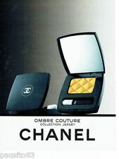 PUBLICITE ADVERTISING 116  1988  Chanel  maquillage collection jersey ombre cout