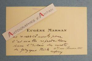 CDV Eugene MARSAN Ecrivain Journaliste Ne A BARI