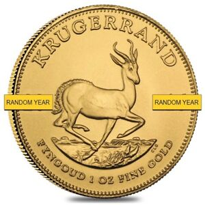 1 oz South African Krugerrand Gold Coin BU (Random Year)