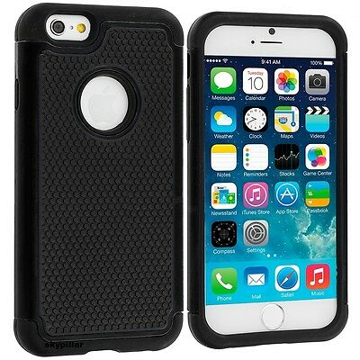 Hybrid + silicone Hard Case Cover Apple iPhone 4GS 5S 5C 6 / 6S Plus Smartphone