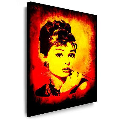 "Bild Leinwand ""Audrey Hepburn"" Bilder Gemälde, Keilrahmen Kunstdrucke k. Poster"