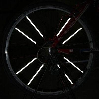 12PCS Bicycle Wheel Rim Spoke Bike Mount Tube Warning Light Strip Reflector su1