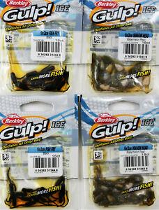 Berkley Gulp Ice Minnow Head & Fish Fry  (Lot of 4) Ice Fishing bait