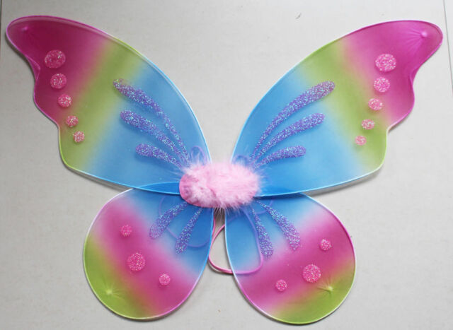"""18""""x19"""" Pixie fairy wings Girls baby toddler adult Fancy dress party Costume"""
