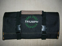 Triumph Laurel Logo Tr3-4/tr250/tr6//tr7-8 new All Black Tool Roll